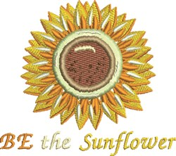 Be The Sunflower embroidery design