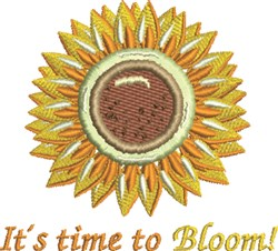 Time To Bloom embroidery design
