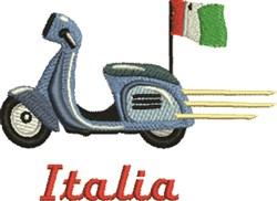 Scooter Italia embroidery design