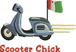 Scooter Chick embroidery design