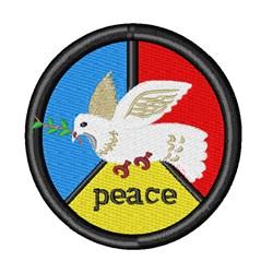 Dove & Peace embroidery design