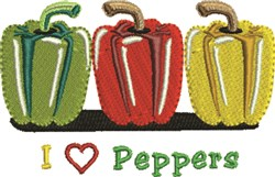 Love Peppers embroidery design