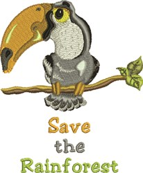 Save The Rainforest embroidery design