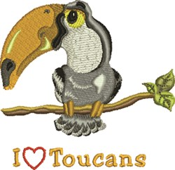 Love Toucans embroidery design