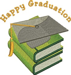 Happy Graduation embroidery design