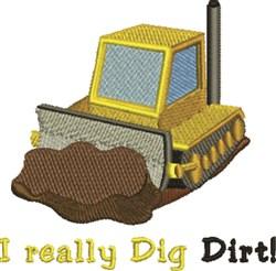 I Dig Dirt embroidery design