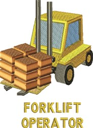 Forklift Operator embroidery design