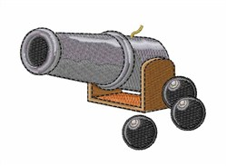 Cannon & Balls embroidery design