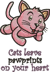 Cats Leave Pawprints embroidery design