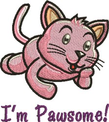 Im Pawsome embroidery design