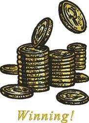 Winning Money embroidery design