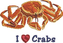 Heart Crabs embroidery design