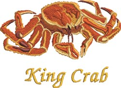 King Crab embroidery design