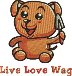 Live Love Wag embroidery design