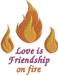 Friendship On Fire embroidery design