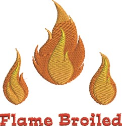 Flame Broiled embroidery design