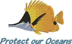 Protect Oceans embroidery design