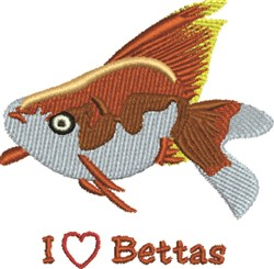 Love Betas embroidery design