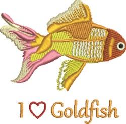 Love Goldfish embroidery design