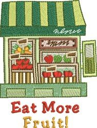 Eat More Fruit embroidery design