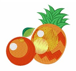 Orange & Pineapple embroidery design
