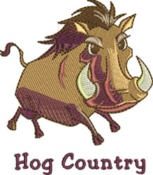 Hog Country embroidery design