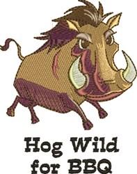 Hog Wild embroidery design