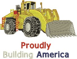 Buildling America embroidery design