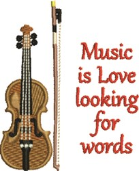 Music Is Love embroidery design