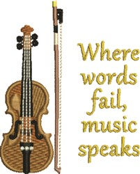 Music Speaks embroidery design