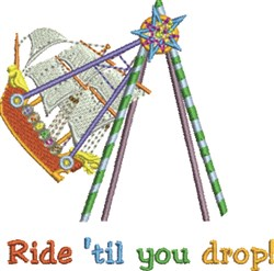 Ride Til You Drop embroidery design