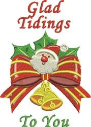 Glad Tidings embroidery design