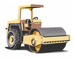 Steamroller embroidery design