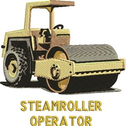 Steamroller Operator embroidery design