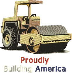 Building America embroidery design