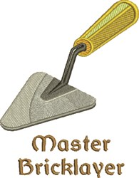 Master Bricklayer embroidery design
