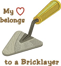 A Bricklayer embroidery design