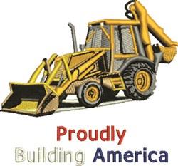 Building America embroidery design