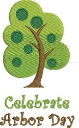 Arbor Day embroidery design