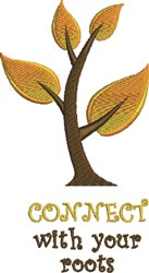 Connect With Roots embroidery design