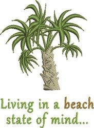 Living In A Beach embroidery design