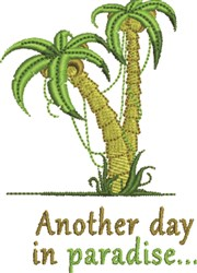 Day In Paradise embroidery design
