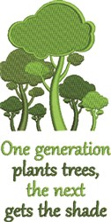 Generation Plants embroidery design