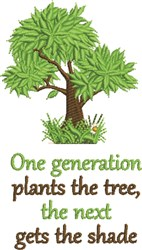 Plants The Tree embroidery design