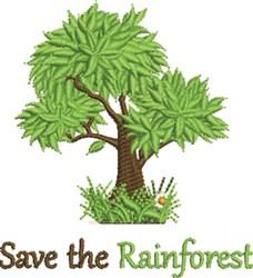 Save Rainforest embroidery design