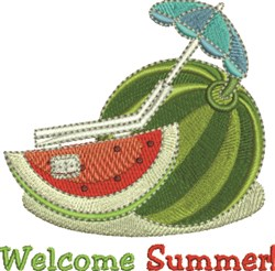 Welcome Summer embroidery design