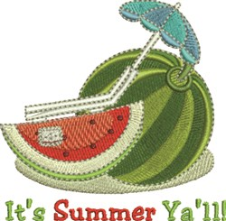 Its Summer Yall embroidery design