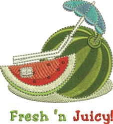 Fresh N Juicy embroidery design