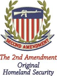 Second Amendment embroidery design