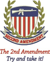 2nd Amendment Arm Bearing Constitution C embroidery design